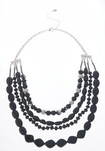 Beaded Multi Row Necklace
