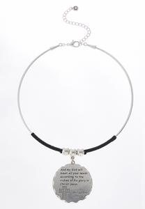 Philippians Wire Pendant Necklace