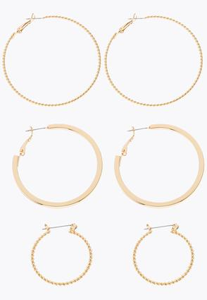 Multi Size Hoop Earring Set