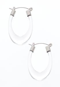 Lucite Oval Hoops