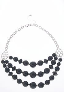 Acrylic Bead Layered Necklace