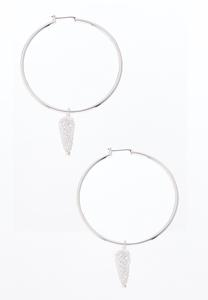 Caged Cubic Zirconia Hoops