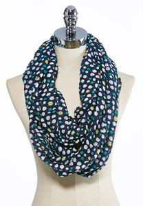 Colored Dot Infinity Scarf