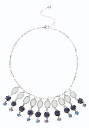 Blue Multi Shaky Bib Necklace