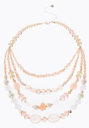 Blush Rose Layered Necklace