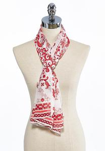 Floral Scroll Oblong Scarf