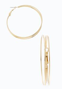 Gold Split Hoops