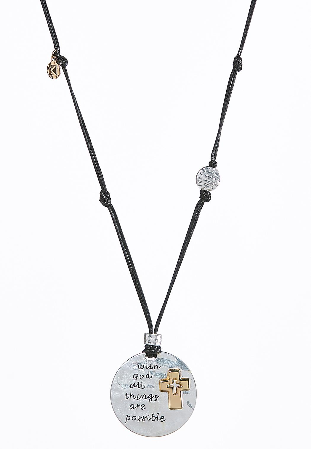 Inspirational Two-Toned Cord Necklace