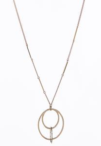Linked Ring Pendant Necklace