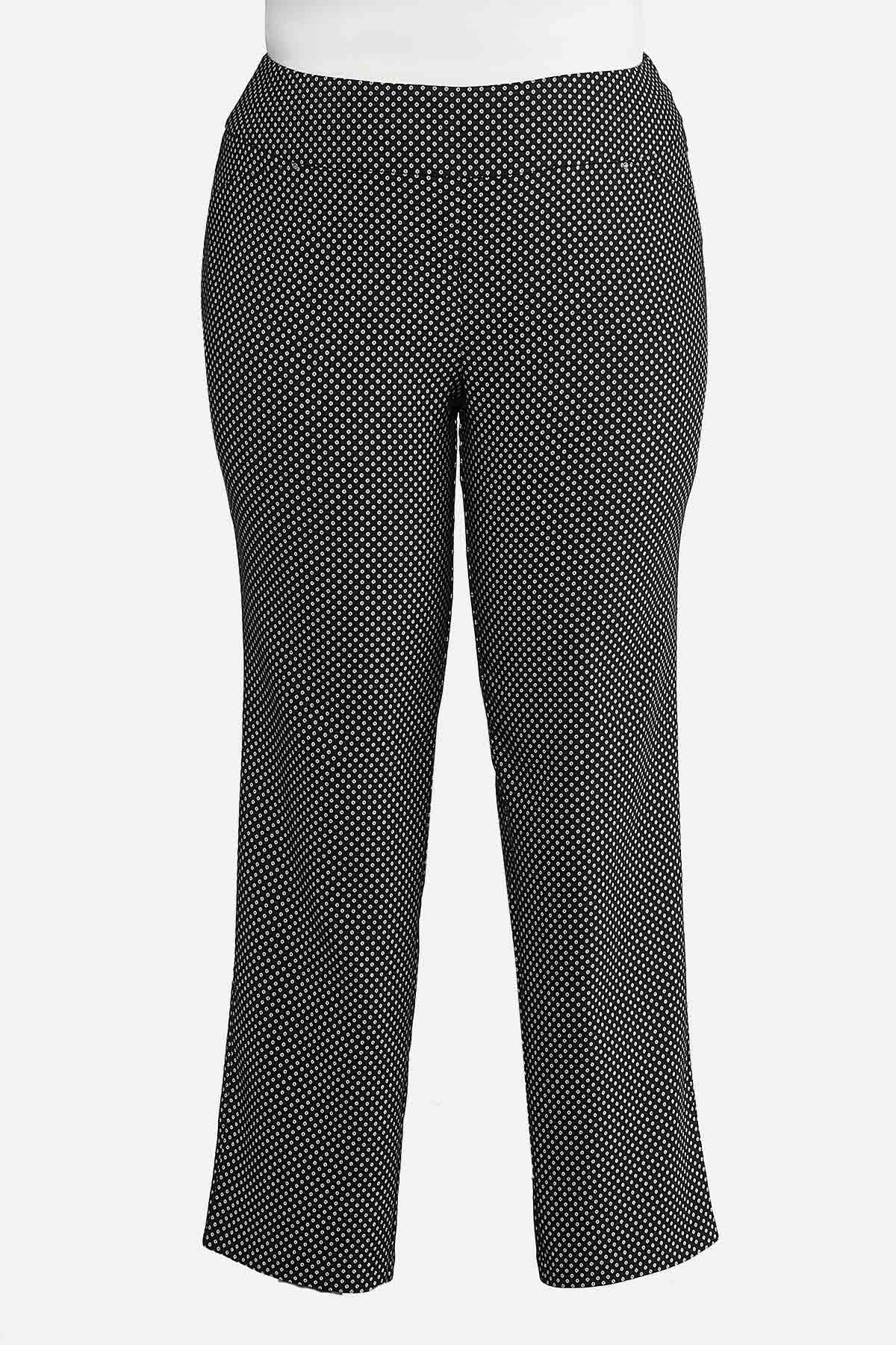 b5deb0f77a8 Plus Size Dotted Pull-On Trousers Pants Cato Fashions