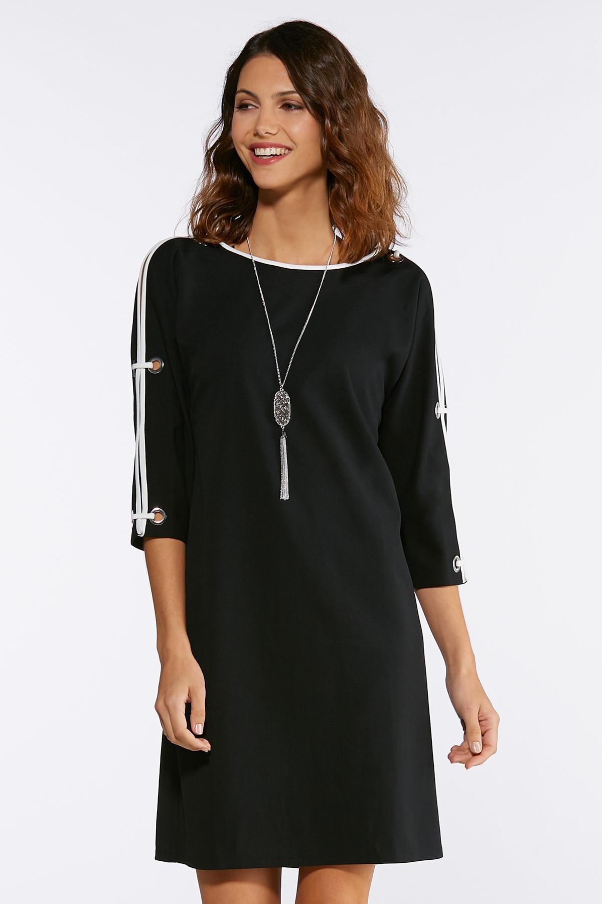 Grommet Split Sleeve Dress