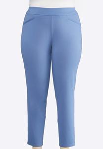 Plus Size Slim Leg Pull-On Pants