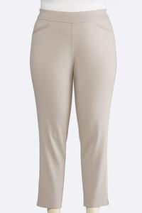 Plus Size Slim Leg Pull-On Pants