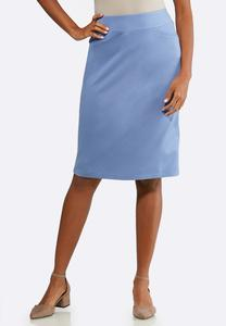 Plus Size Essential Ponte Pencil Skirt