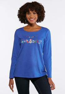 Plus Size Happy Holidays Top
