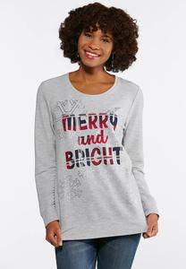 Plus Size Merry And Bright Sweatshirt