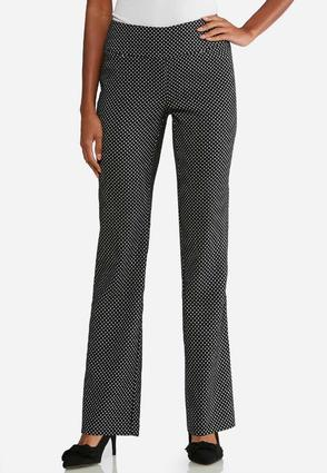 Dotted Pull- On Trousers