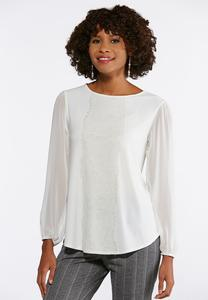 Plus Size Lacy Ivory Breeze Top