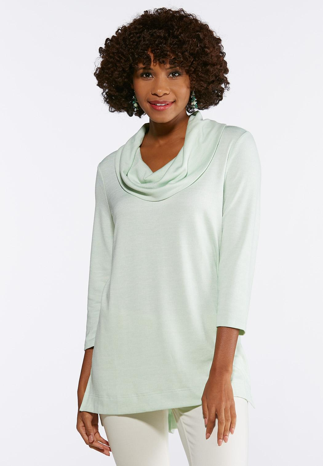 dca935c15 Solid Cowl Neck Tunic alternate view Solid Cowl Neck Tunic