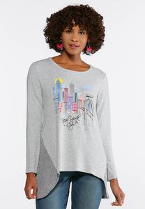 Embellished New York Hacci Top