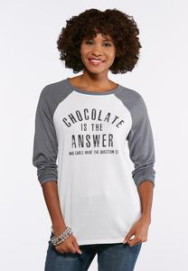 Plus Size Chocolate Is The Answer Top