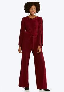Studded Bell Sleeve Jumpsuit