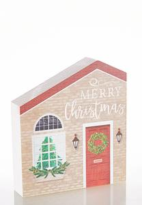 Christmas Wooden House Plaque