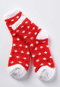 Polka Dot Reindeer Socks