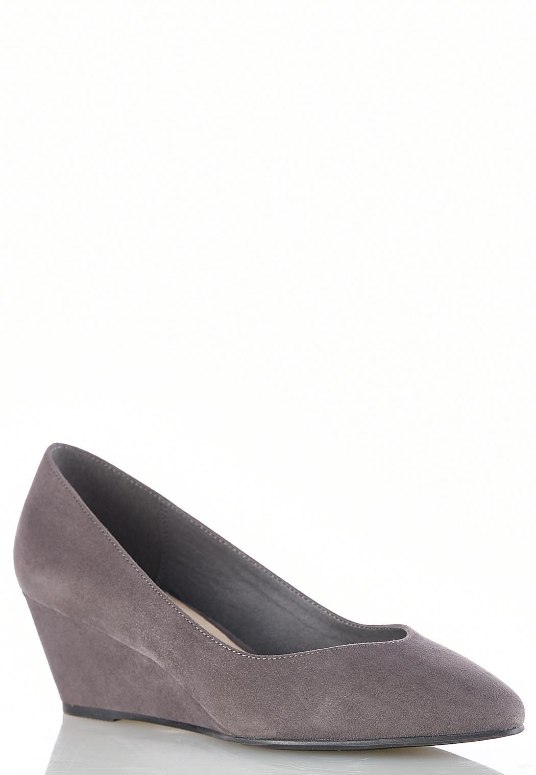 44db70d2c92 Faux Suede Wedge Pumps Wedges Cato Fashions