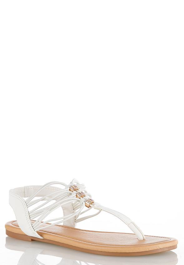 e0fb2b6b8 Embellished Stretch Thong Sandals Flats Cato Fashions