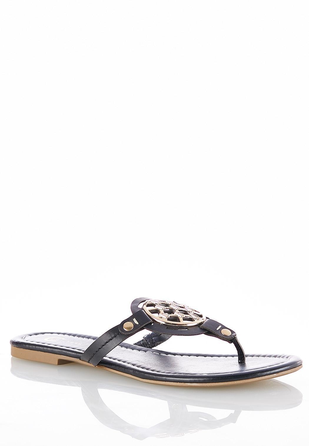 Medallion Thong Sandals