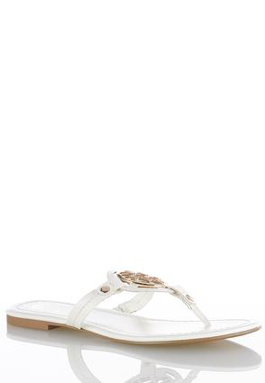 Medallion Thong Sandals