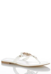 Medallion Thong Sandal