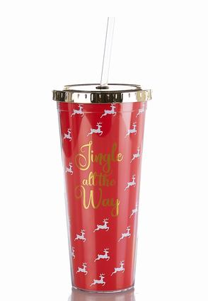Reindeer Jingle Tumbler Water Bottle