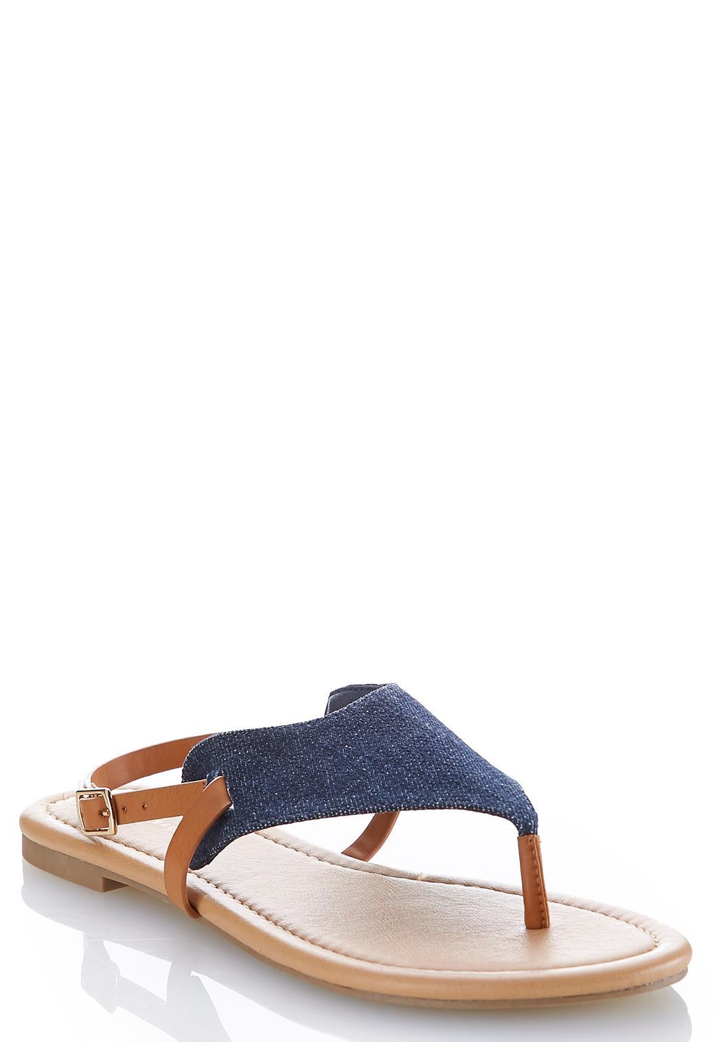 Denim Thong Sandals