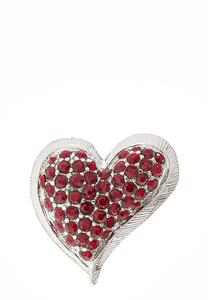 Red Stone Heart Brooch