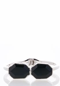 Hexagon Stone Cuff Bracelet