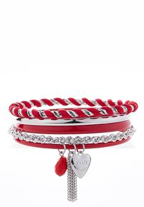 Shaky Charm Bangle Bracelet Set