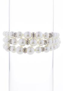 Pearl Stretch Bracelet Set