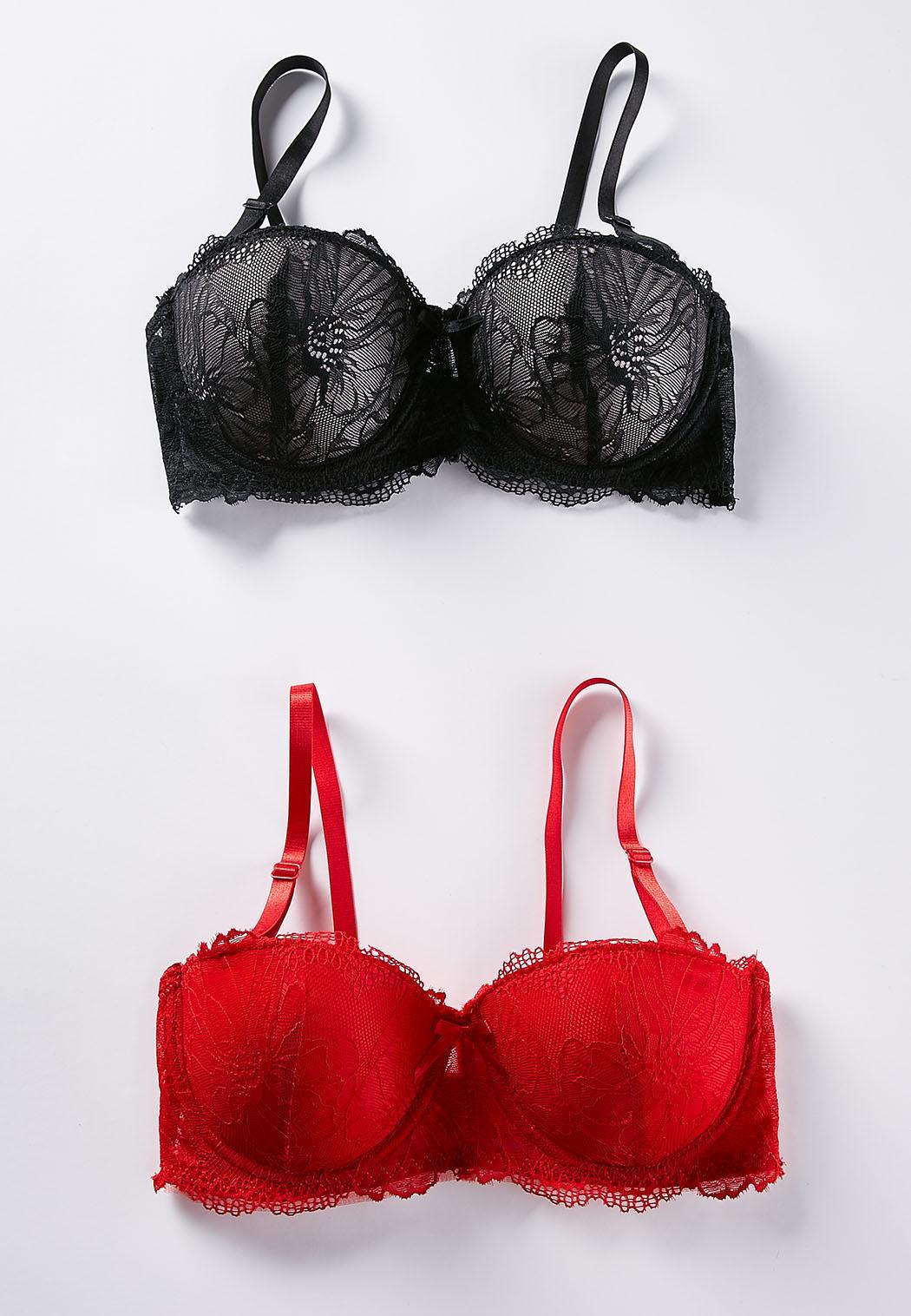 23f6daac4b820 Red Black Lace Convertible Bra Set Bras Cato Fashions