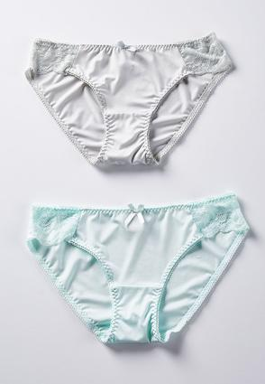 Gray And Crystal Blue Panty Set