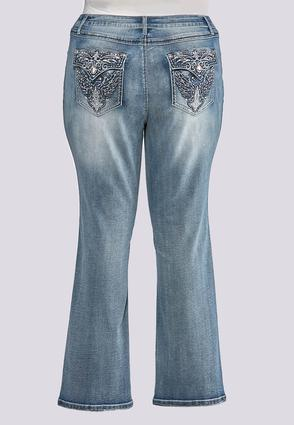 Plus Petite Faded Embellished Jeans