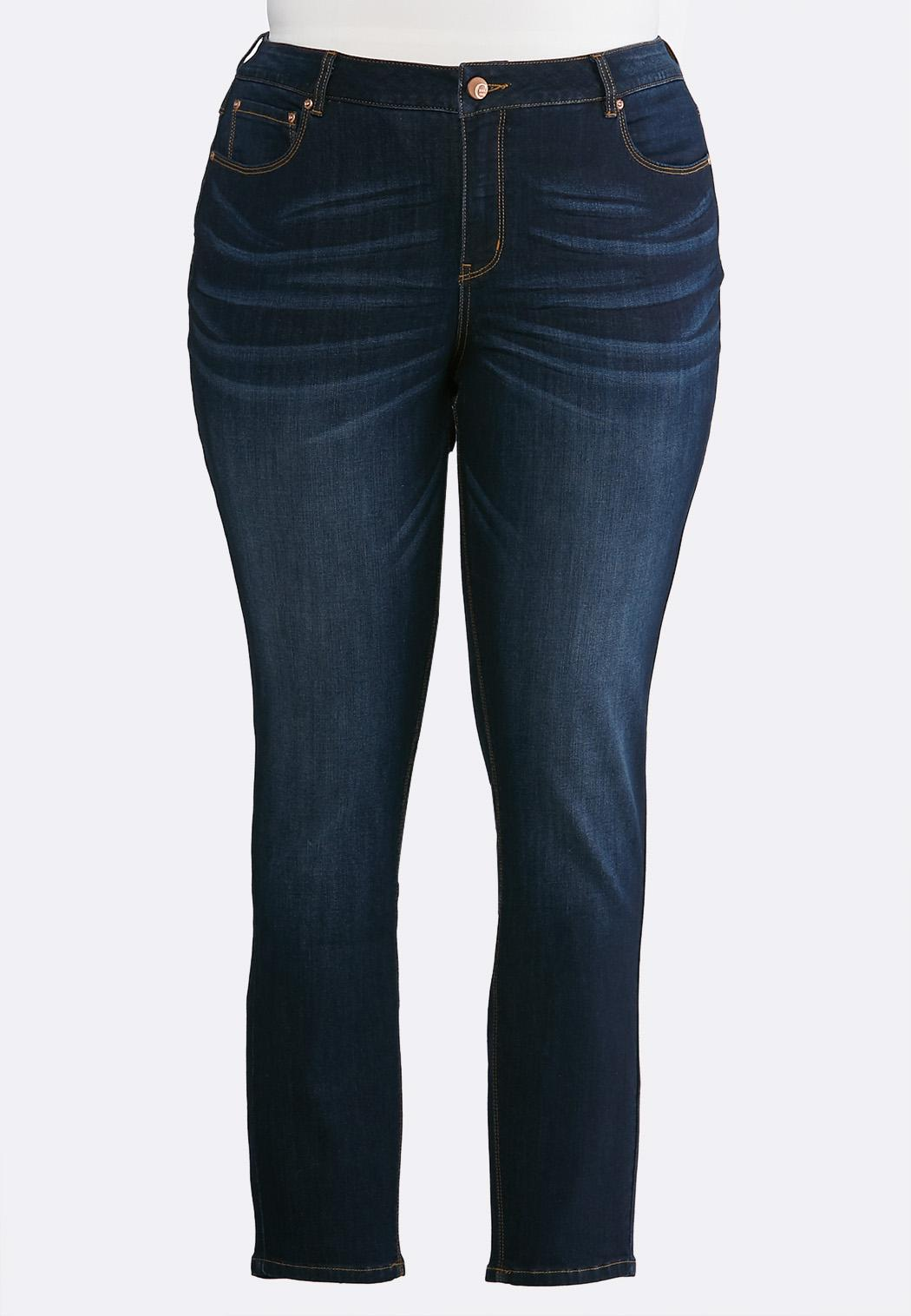 Plus Size Dark Denim Jeans