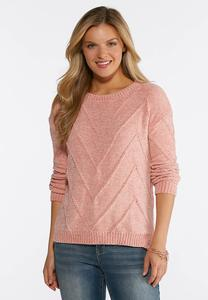 Chevron Chenille Sweater
