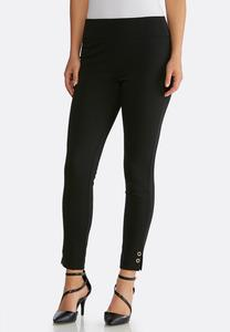 Ponte Grommet Trim Leggings