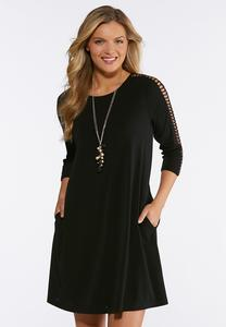 Plus Size Breezy Trim Sleeve Dress