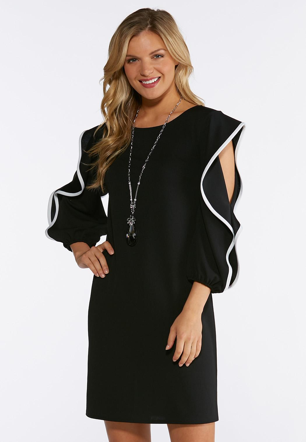 046763068f6 Flounced Sleeve Shift Dress alternate view Flounced Sleeve Shift Dress