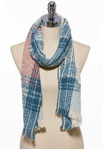 Country Plaid Oblong Scarf