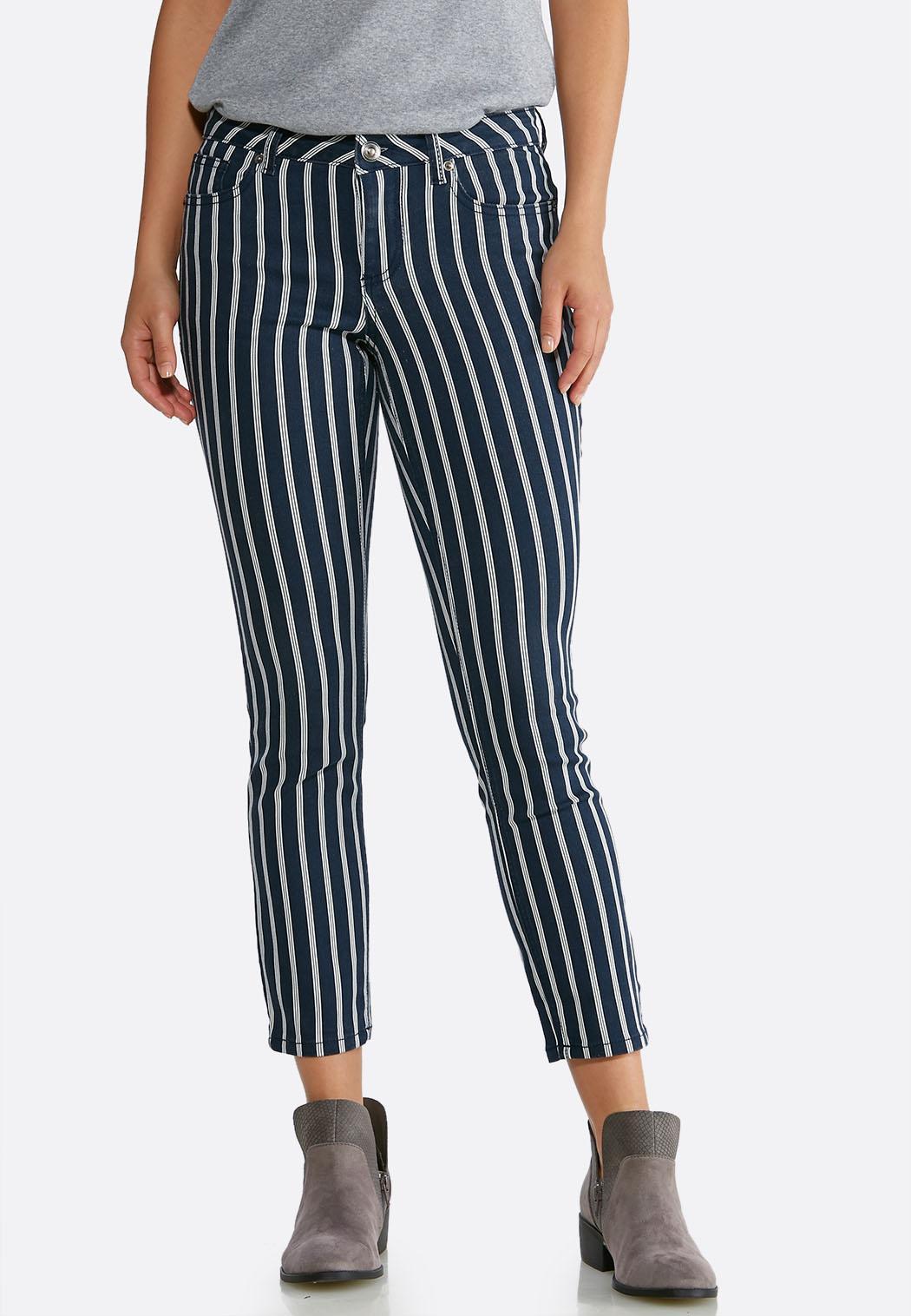 Denim Navy Stripe Jeans