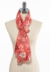 Blooming Oblong Scarf